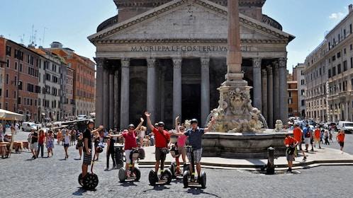 Segway riders near landmark in Rome