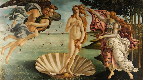 Venus on a Half-shell painting