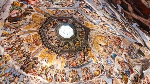The ceiling of the Duomo in Florence, Italy.