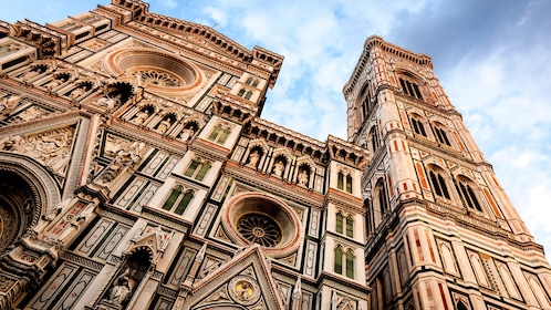 Outside the Duomo