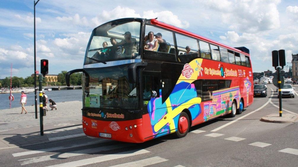 Hop on hop off bus in Stockholm