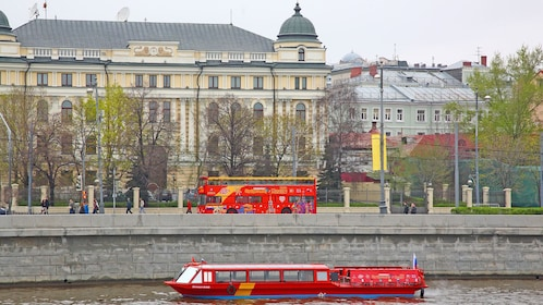 Scenic Moscow via a hop on hop off bus tour
