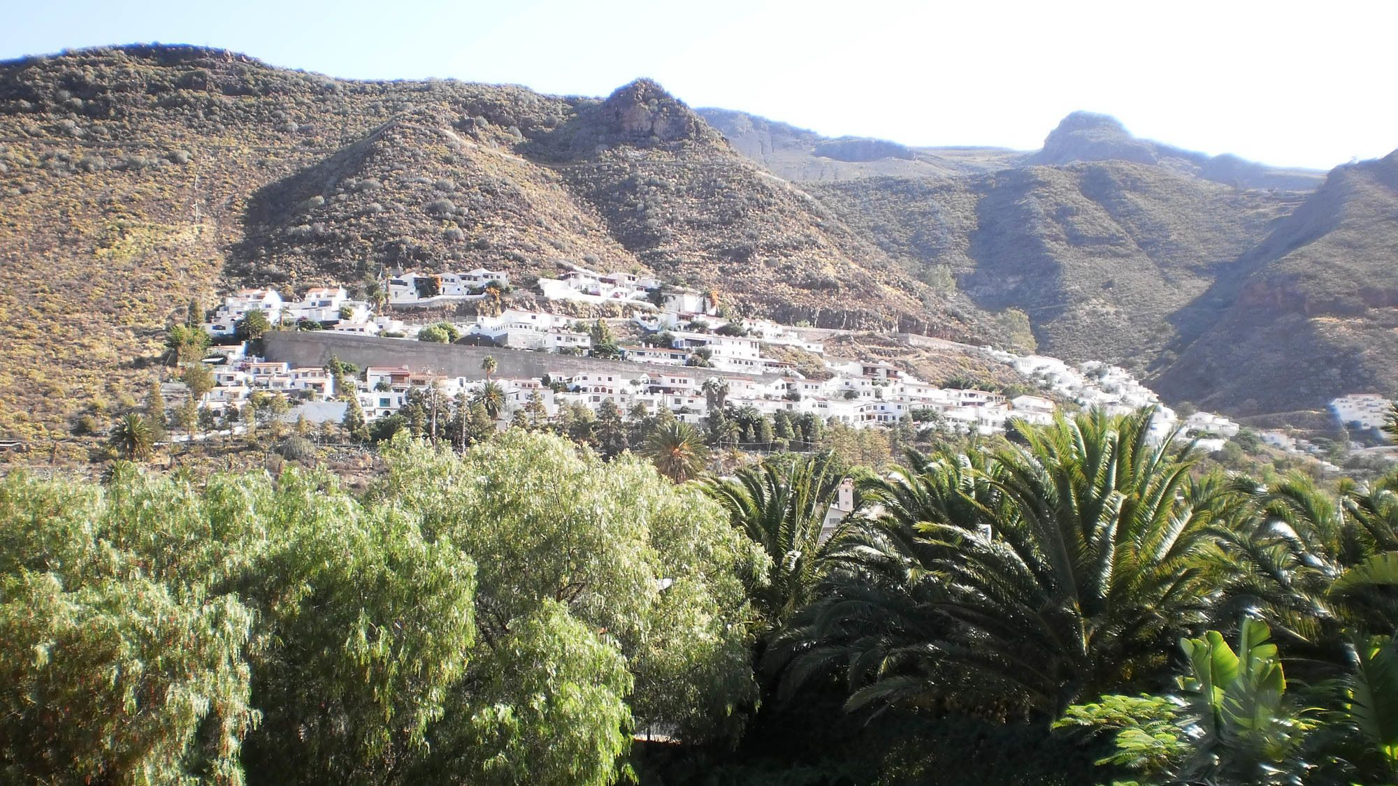 view of a hillside town in Gran Canaria