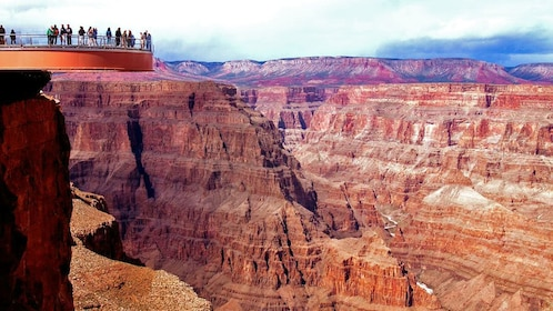 visitors standing on the Grand Canyon Skywalk