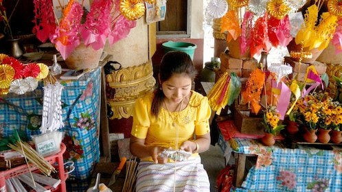 Woman at a local store in Myanmar