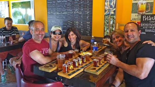 Group enjoying the Craft Beer Tour with Flight Sampling in Vail