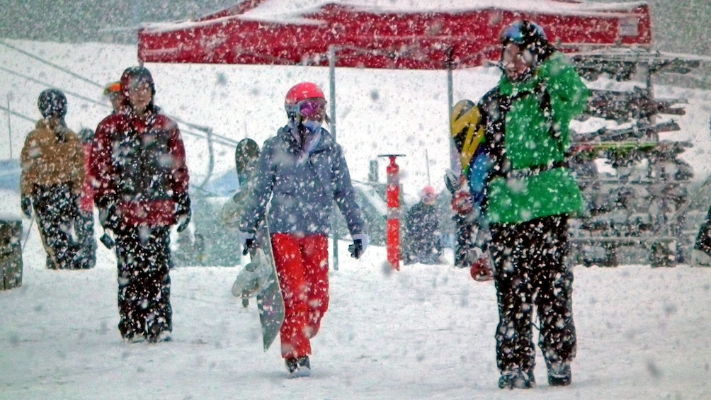 Show item 2 of 4. heavy snow at the slopes in Whistler