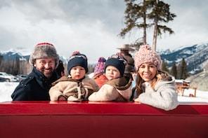 Family Horse-Drawn Sleigh Ride in Banff