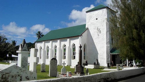 Cemetery in the Cook Islands