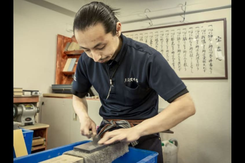 Show item 4 of 6. Choose and Sharpen a Japanese Knife in Nagoya With an Expert