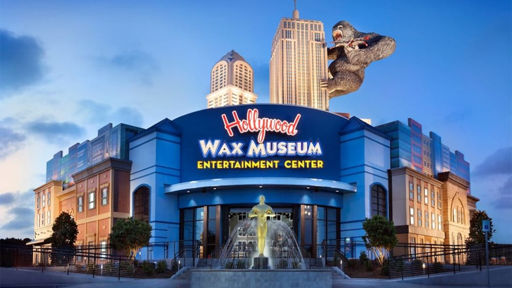 Show item 4 of 4. Night view of the Hollywood Wax Museum Entertainment Center in Myrtle Beach, South Carolina