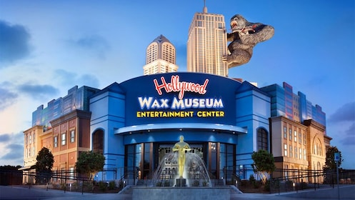 Night view of the Hollywood Wax Museum Entertainment Center in Myrtle Beach, South Carolina