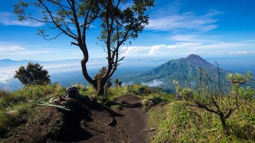 Hiking path on Mount Merapi