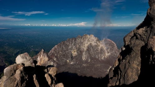 View from a hiking path on Mount Merapi
