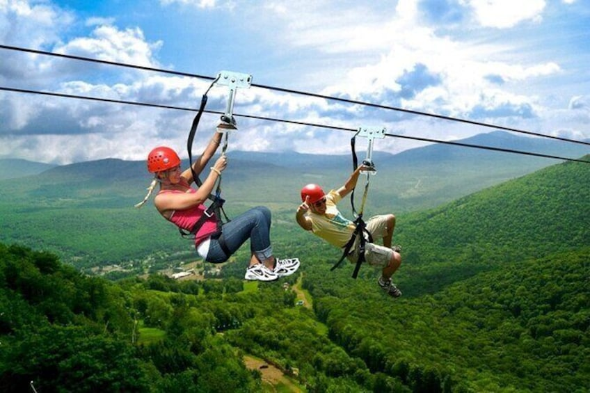 Show item 1 of 13. 2-Day Zip Lining and Waterfall Hike Trip in Catskills Mountain, NY