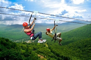 Zip Lining & Waterfall Hike in the Catskill Mountains, New York- 3-Day Trip