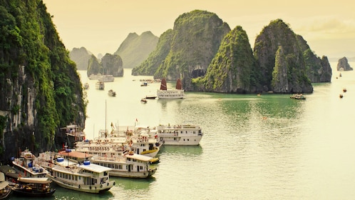 Beautiful panoramic view of Ha Long Bay in Vietnam