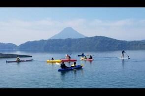Kayak Across the Largest Caldera Lake in Kyushu