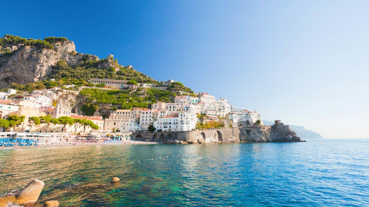 Beautiful beach view of Capri.