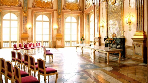 arranged seats inside Marble Hall in Austria