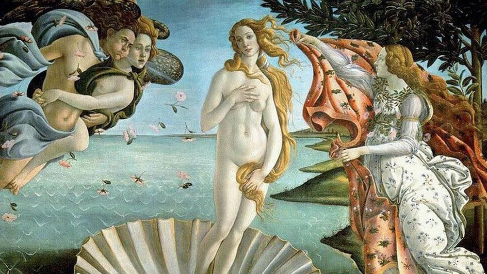 Birth of Venus painting by Sandro Botticelli.