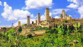 Tour in piccoli gruppi di San Gimignano, di Siena e del Chianti da Pisa