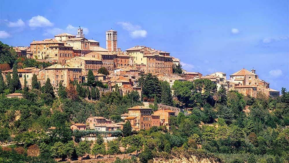 Stunning panoramic view of Montepulciano in Italy
