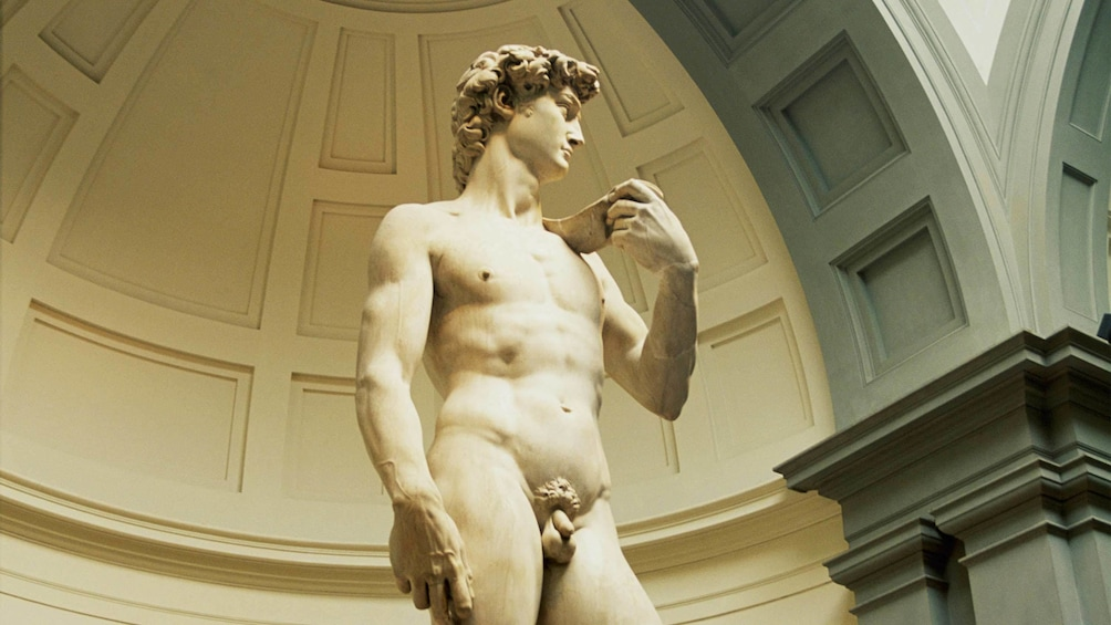 Statue at the Accademia Gallery in Florence