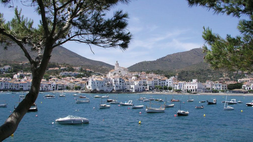 Cadaques with boats anchored off shore