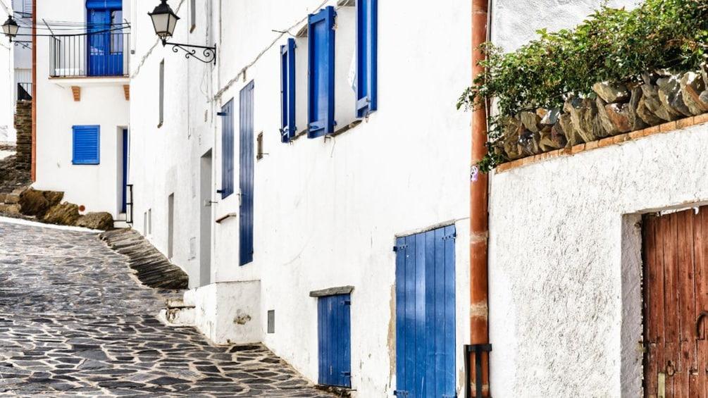 Cobblestone street of Cadaques