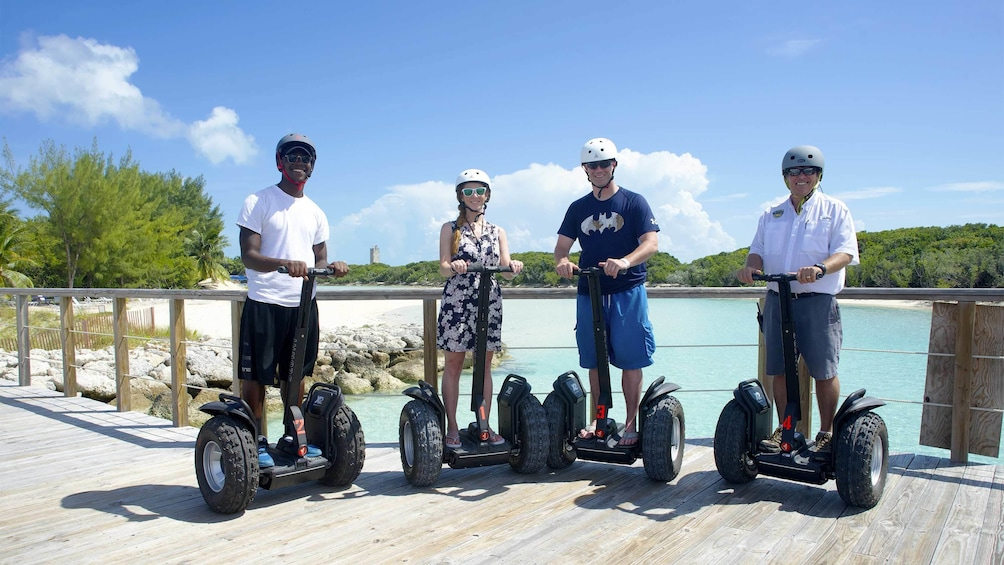 Show item 5 of 5. Group on a segway tour of Grand Bahamas, Out Islands
