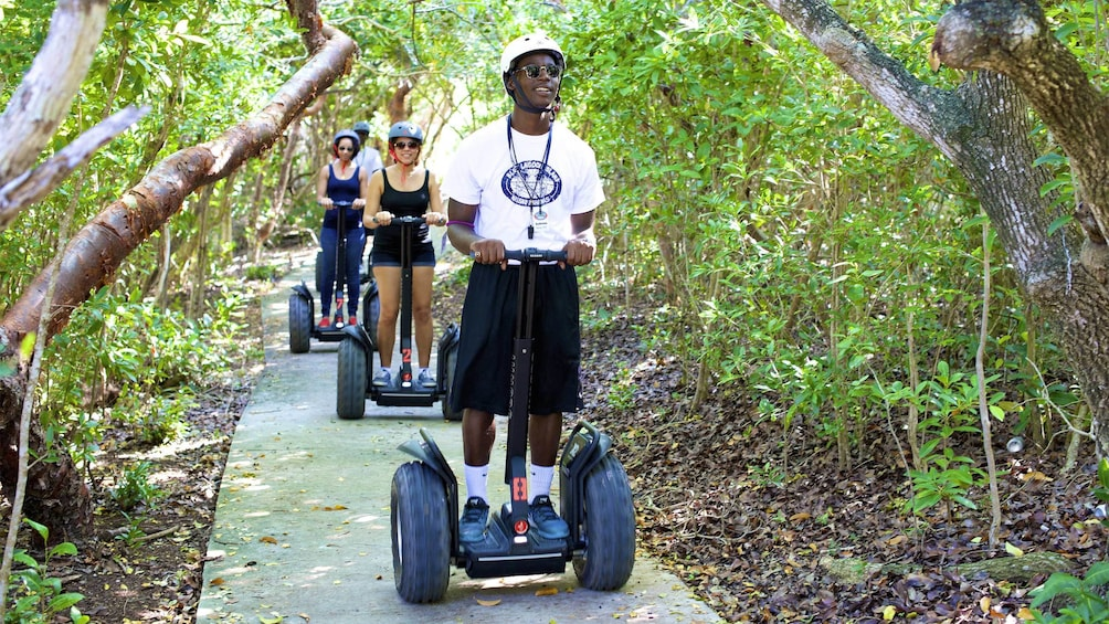 Show item 1 of 5. Group on the segway tour of the Grand Bahamas, Out Islands