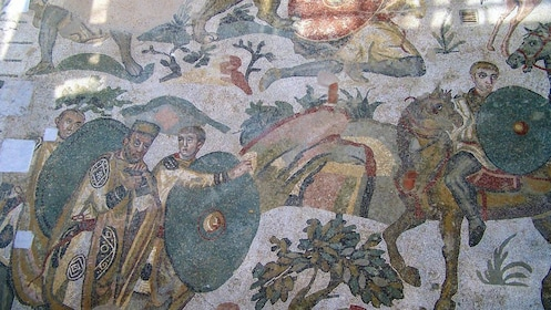 Close up of ancient artworks in Sicily