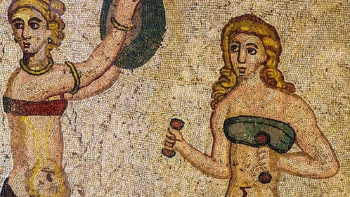 Close up of ancient paintings in Sicily