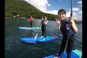 SUP Boarding in the Clear Waters of Lake Chuzenji, Nikko