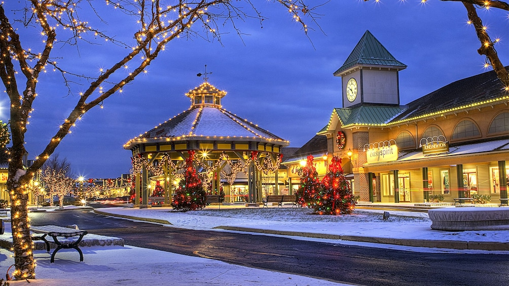 Show item 1 of 5. Shopping center at night in the winter time in California Central Valley North