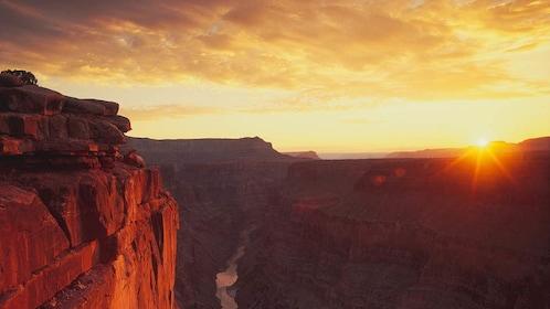 Beautiful view of Grand Canyon at sunset.