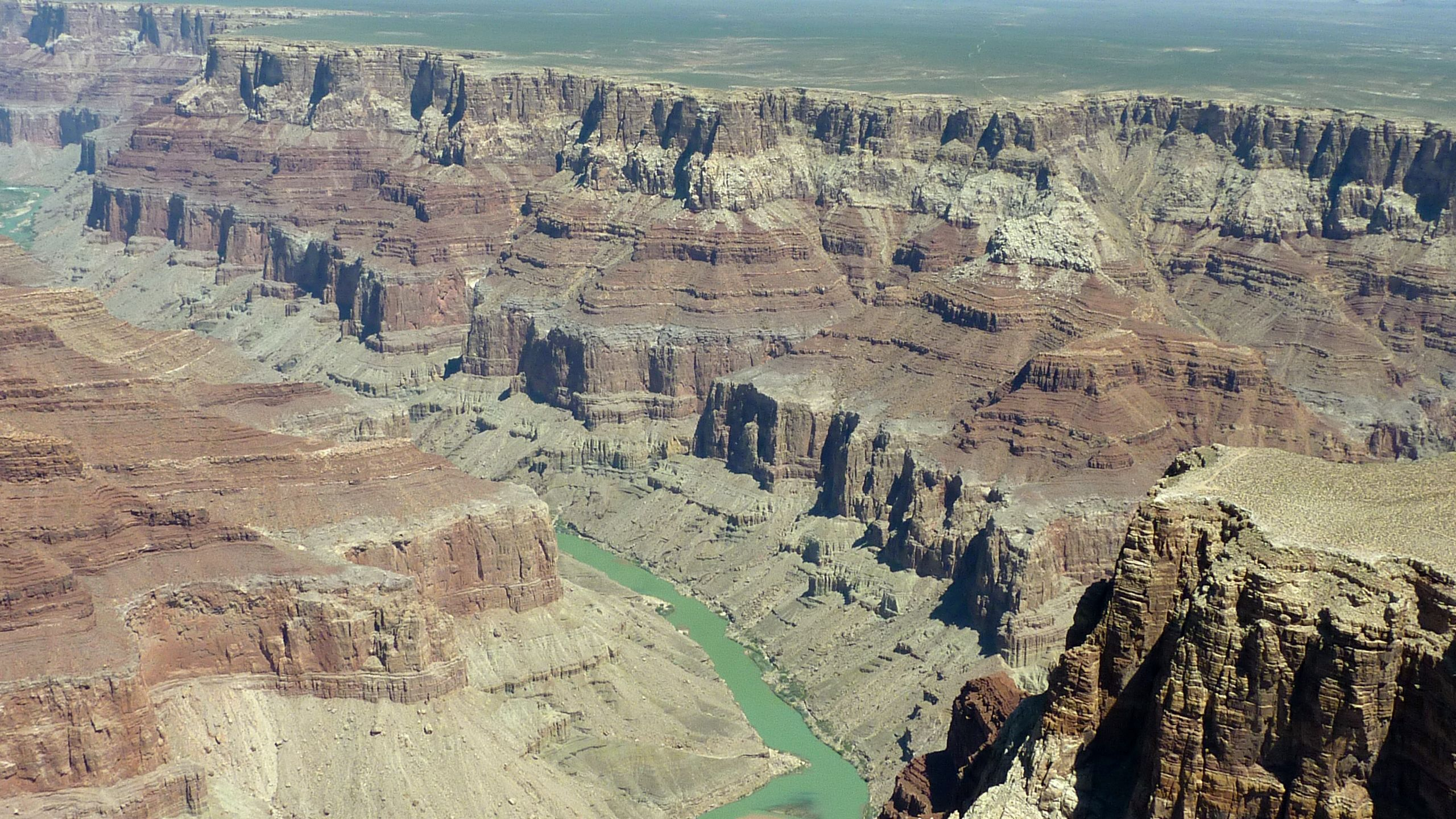 Aerial view of Grand Canyon and Colorado River