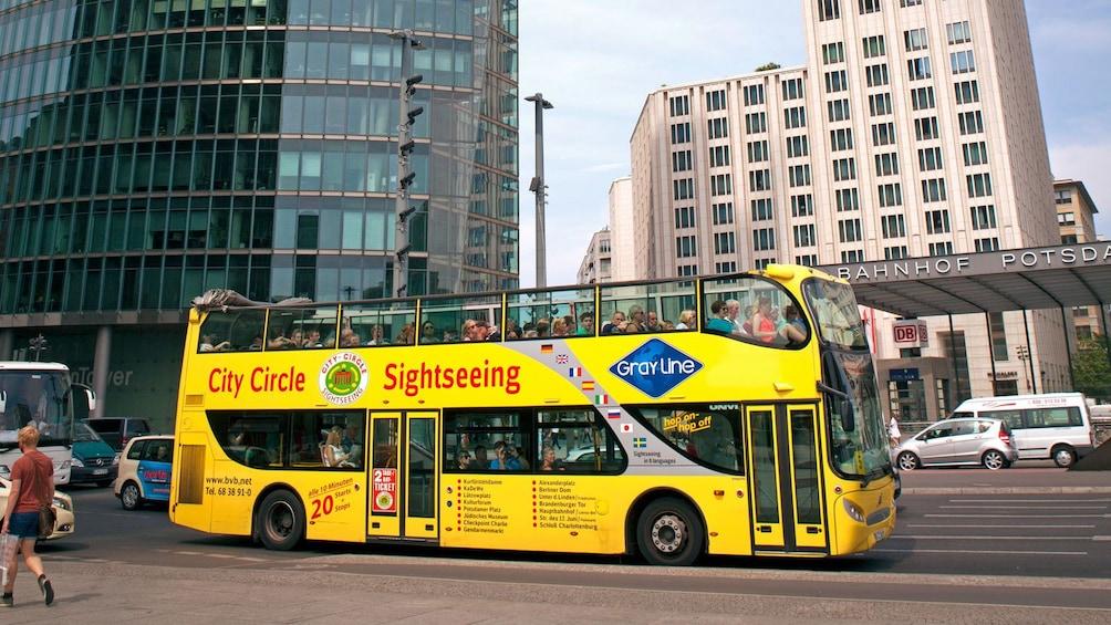 crowded double decker bus in Berlin