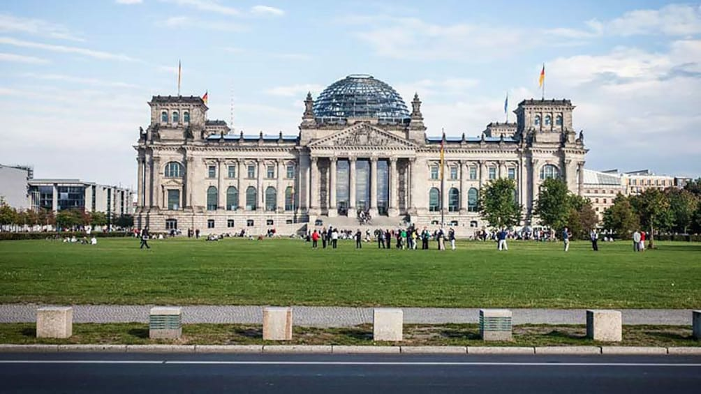 visiting the Reichstag building in Berlin