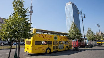 Show item 2 of 5. double decker bus parked on the side of the road in Berlin