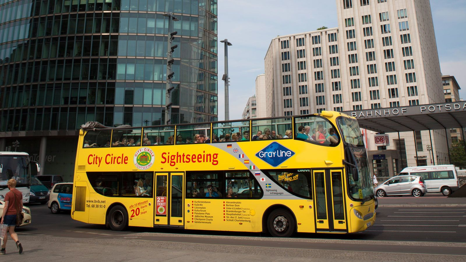 double decker bus on the streets of Berlin