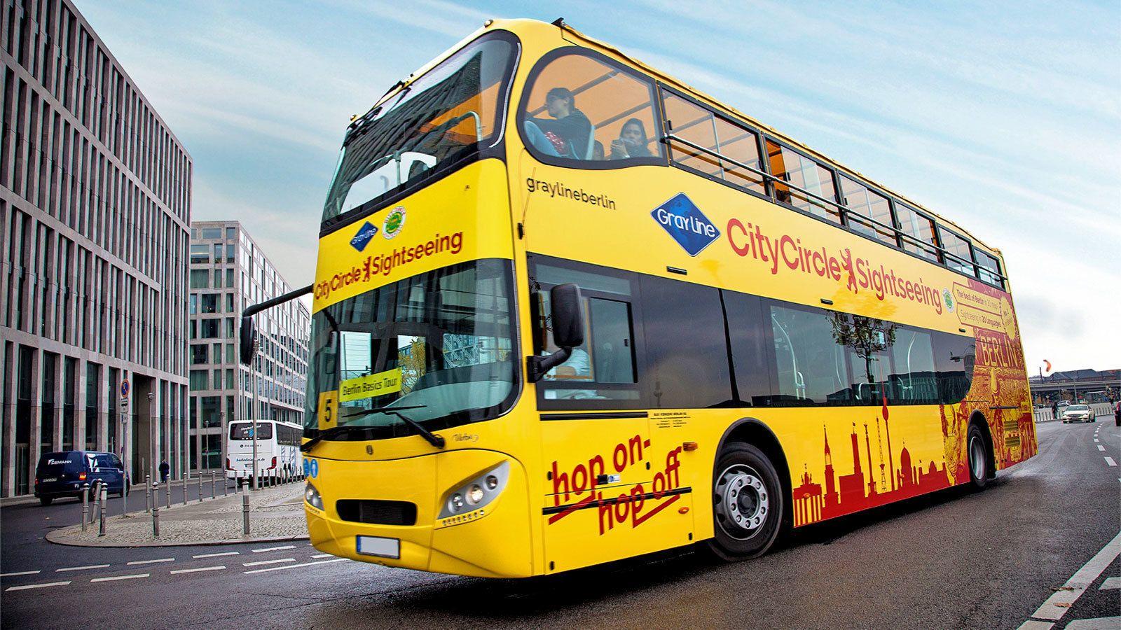 covered double decker bus in Berlin