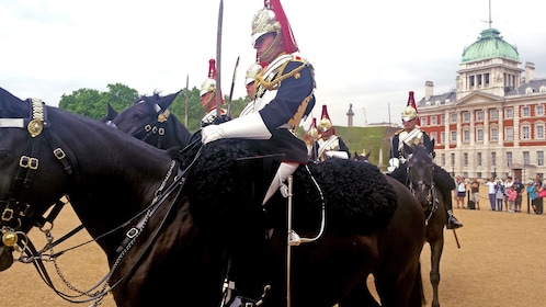 royal guards on horseback in London