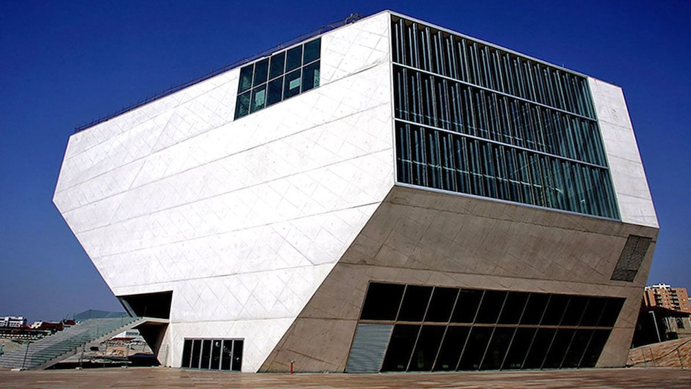 Show item 5 of 5. outside the Casa de Musica in Porto