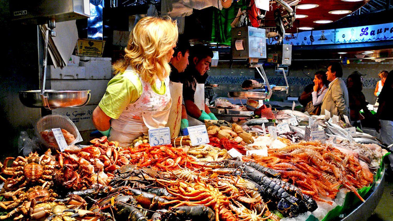 Fish market in Barcelona