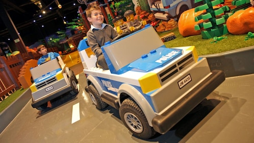 life size LEGO cars at Legoland in Manchester