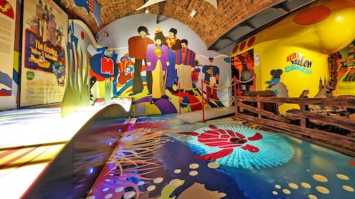 colorful Beatles themed room in Liverpool