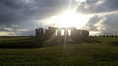 Stonehenge near sunset