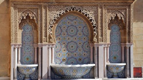 Tiled mosaic in Rabat